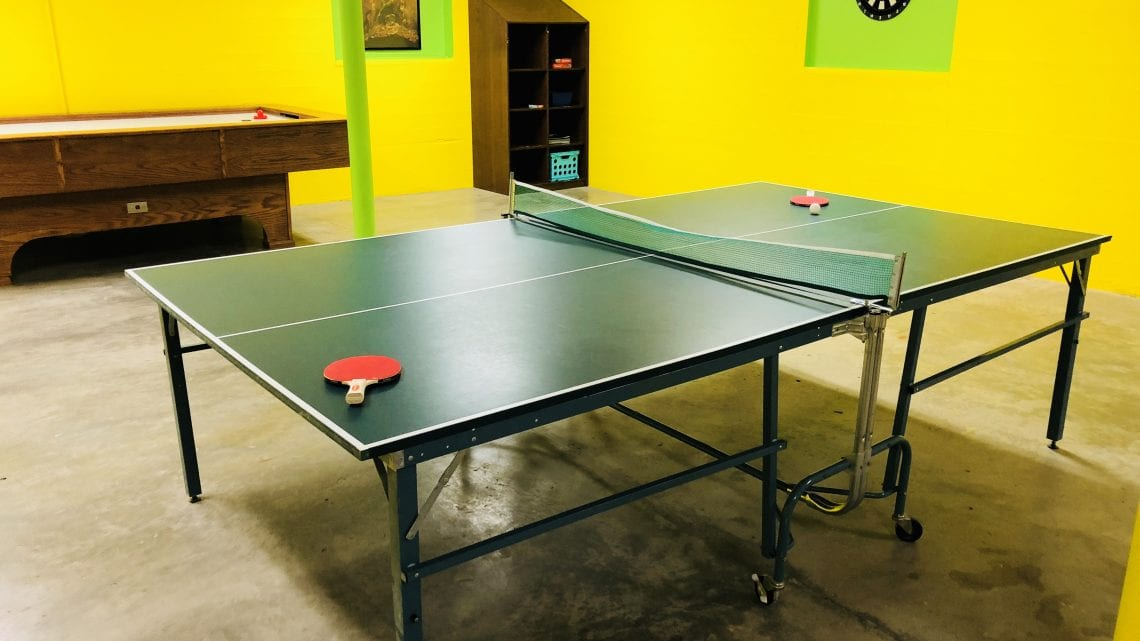 Ping Pong Table in Facility Game Room | HeartlandBehavioral.com